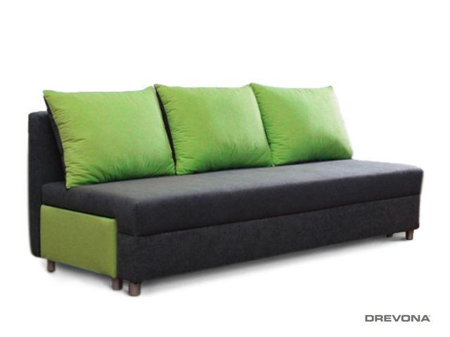 Rozťahovacia pohovka zeleno-sivá EVELIN