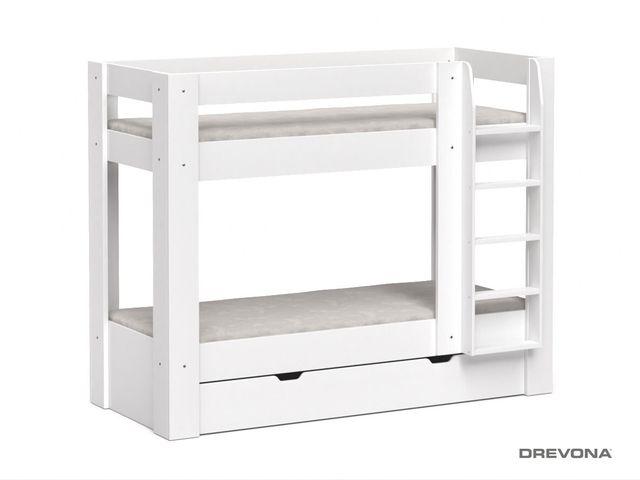 Poschodová posteľ biela REA PIKACHU, pravá