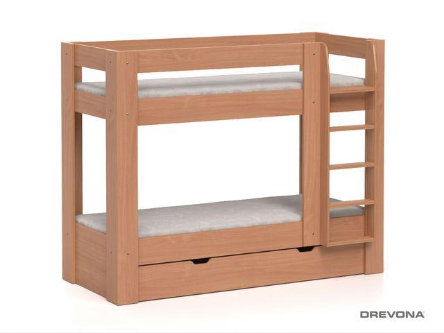 Poschodová posteľ buk REA PIKACHU, pravá