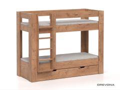 Poschodová posteľ REA PIKACHU dub lancelot, ľavá