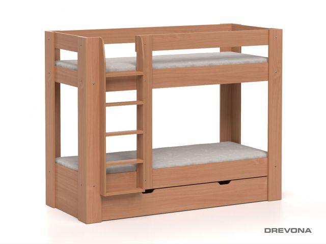Poschodová posteľ REA PIKACHU, ľavá buk