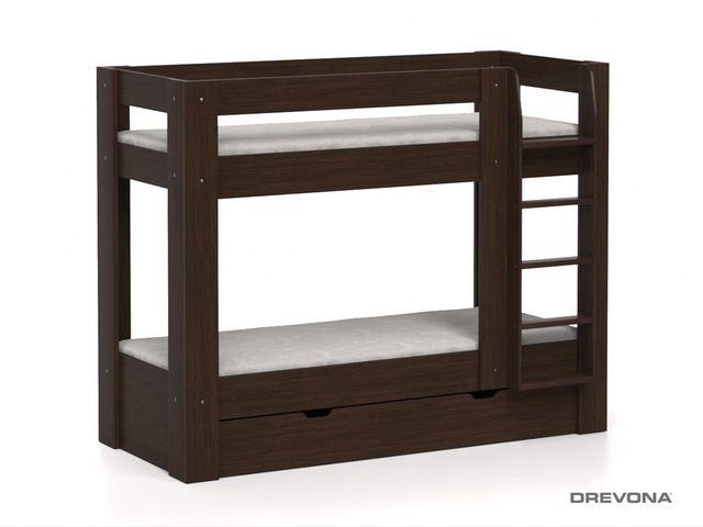 Poschodová posteľ wenge REA PIKACHU, pravá