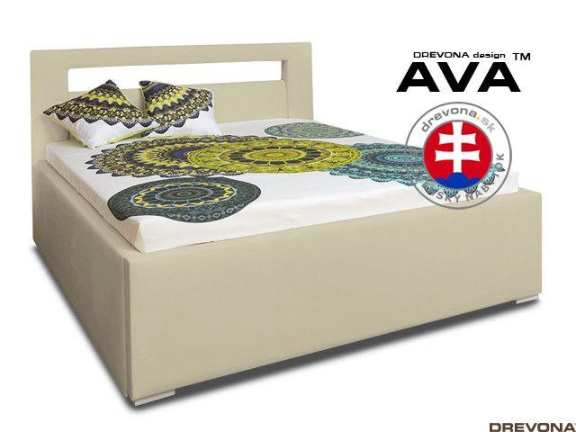 59bfed3ef Manželská posteľ 160 cm béžová koženka AVA LERYN | DREVONA