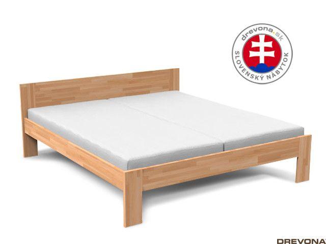 659bd337c045b Manželská posteľ z masívu 180x200 cm ALPINA | DREVONA