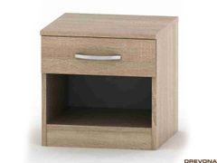 Príručný stolík dub svetlý BE03-008-00