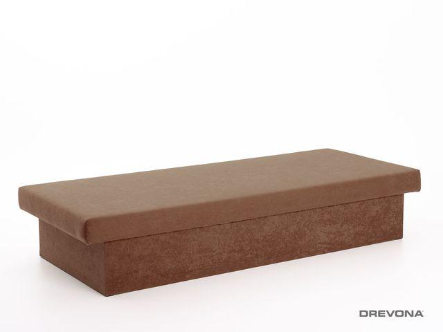 Pružinová váľanda hnedá 190x80x38 JANA, Vento X 45 Brown