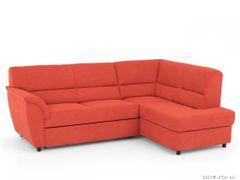 Rohová sedacia súprava oranžová pravá AVA SENZI Soro 51
