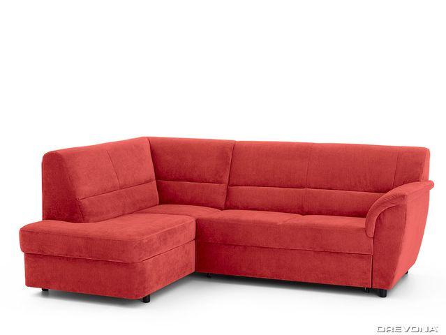 Rohová sedacia súprava červená ľavá AVA SENZI London 308