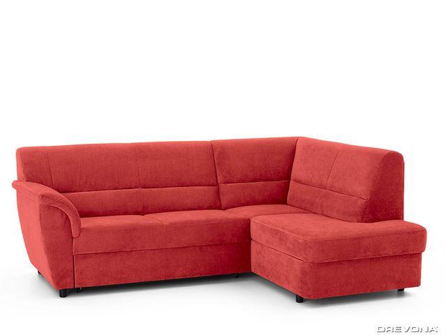 Rohová sedacia súprava červená pravá AVA SENZI London 308