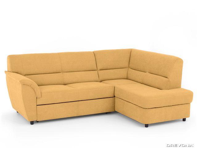 Rohová sedacia súprava žlto zelená pravá AVA SENZI Soro 40