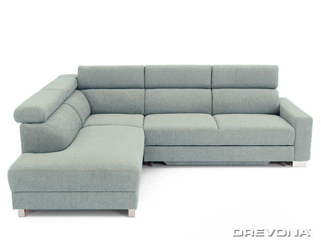 Rohová sedačka ľavá šedá AVA TEMPO Ocean 824