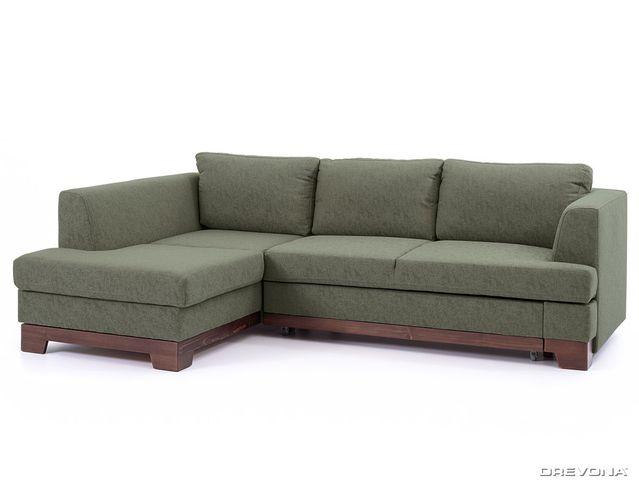 Rohová sedačka ľavá tmavo zelená GLADYS Gusto 34