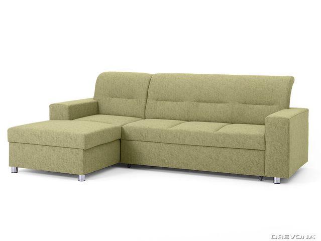Rohová sedačka ľavá zelená ACRUX Gusto 33