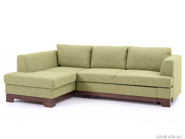 Rohová sedačka ľavá zelená GLADYS Gusto 33