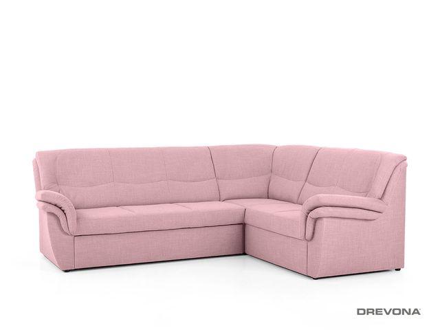 Rohová sedačka pravá AVA PROVAN, ružová Memory 9