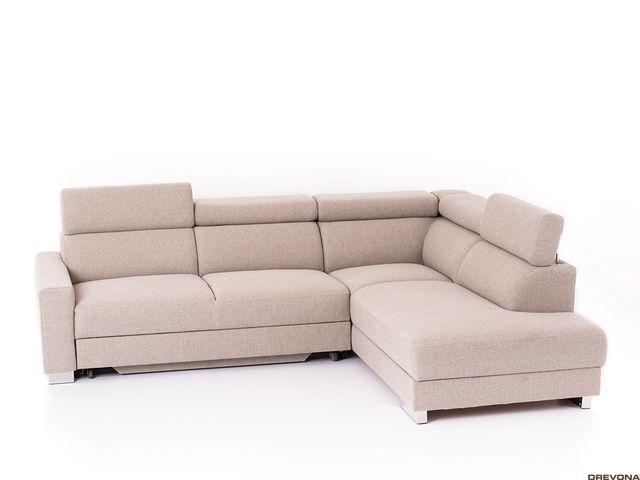 Rohová sedačka pravá béžová AVA TEMPO