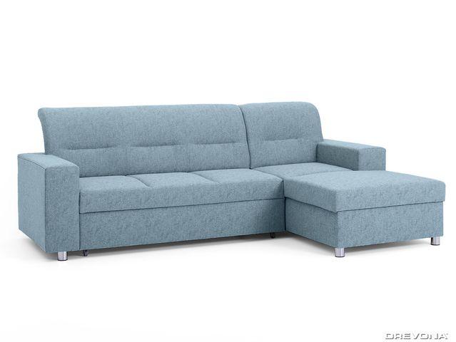 Rohová sedačka pravá modrá ACRUX Gusto 72