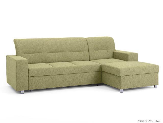 Rohová sedačka pravá zelená ACRUX Gusto 33