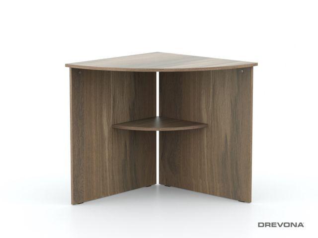 Rohový stôl orech rockpile REA OFFICE 66
