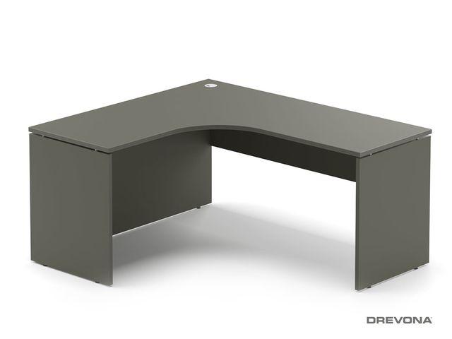 Rohový stôl ľavý šedý RP-SRD-1600