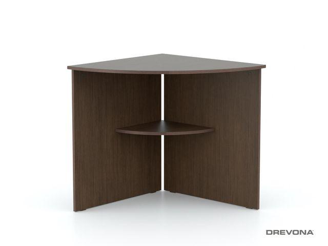 Rohový stôl oblúk wenge REA OFFICE 66