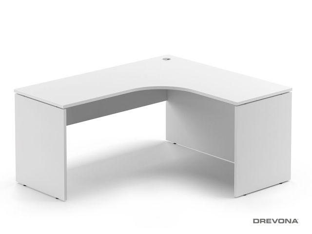 Rohový stôl pravý biely RP-SRD-1600