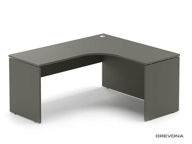 Rohový stôl pravý šedý RP-SRD-1600