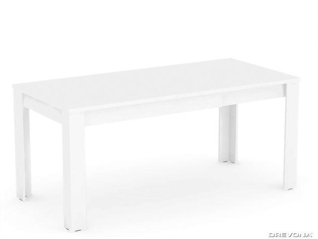 Rozkladací jedálenský stôl biely REA EXTE