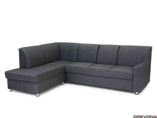Rozkladacia sedačka ľavá čierna EZRA