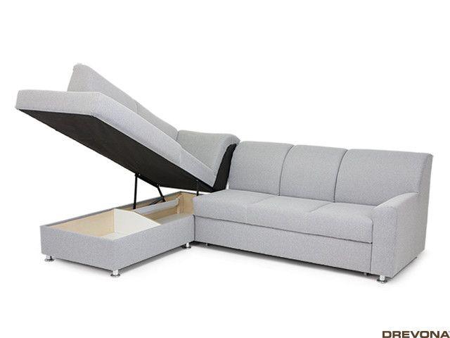 Rozkladacia sedačka ľavá šedá EZRA