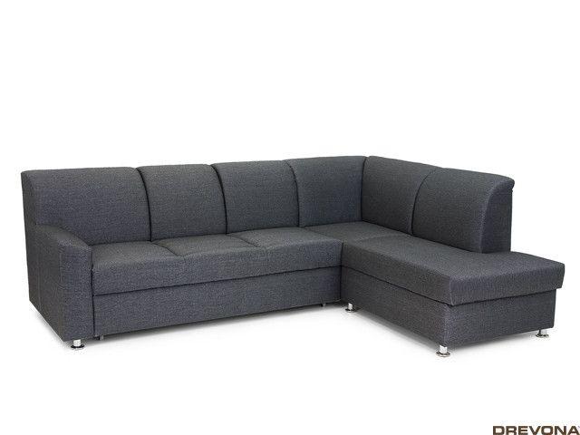 Rozkladacia sedačka pravá čierna EZRA