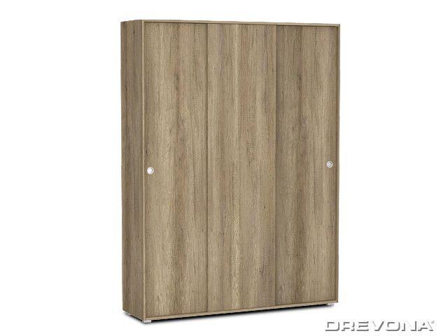Šatníková skriňa 3-dverová dub canyon REA LARY S6/200