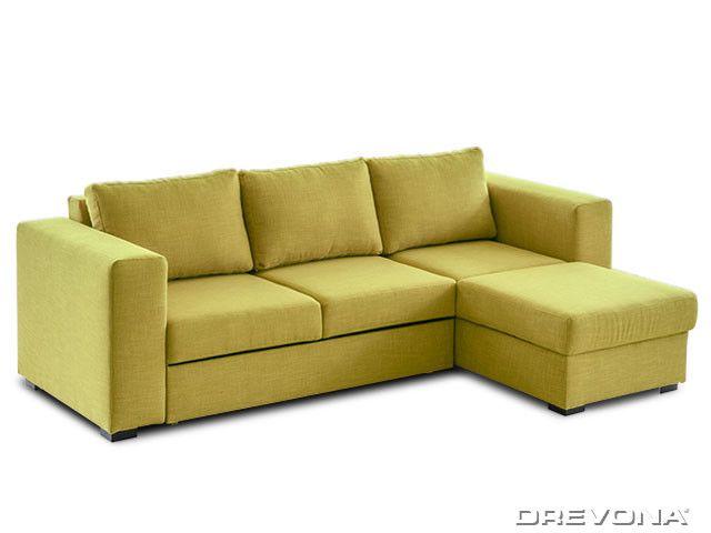 Sedacia súprava zeleno-žltá pravá AVA LUCY Soro 40