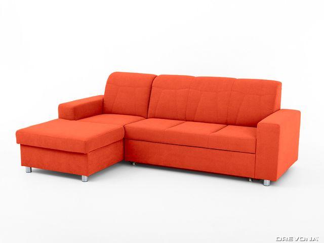 Sedačka rohová ľavá oranžová AVA TINY Soro 51
