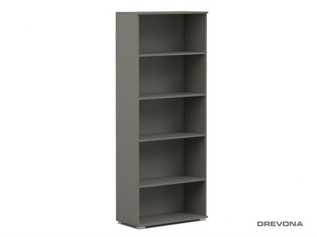 Široký regál šedý REA OFFICE S50