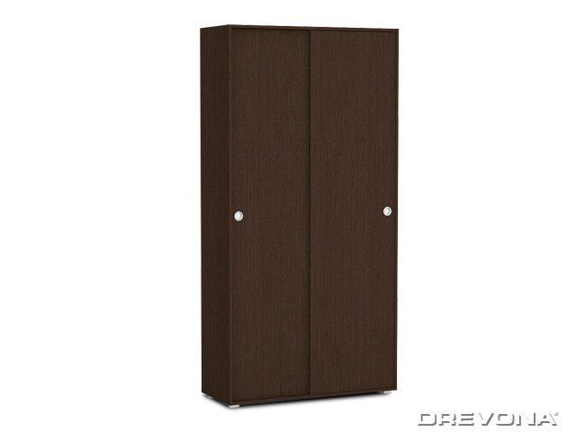 Skriňa 2-dverová policová s posuvnými dverami wenge REA LARY S4/200