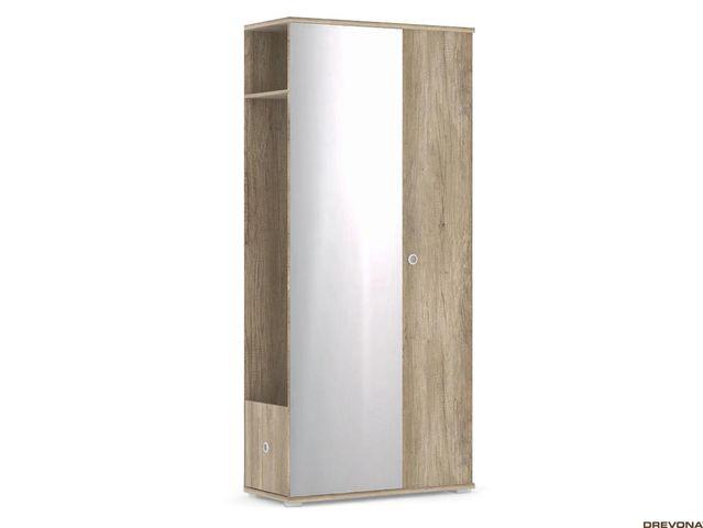 Vešiaková stena + zrkadlo dub c. VESTI 3