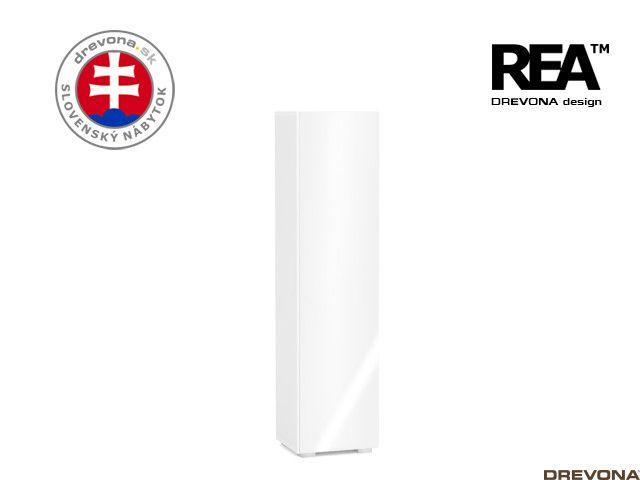 Skrinka biela/biely lacobel REBECCA 4
