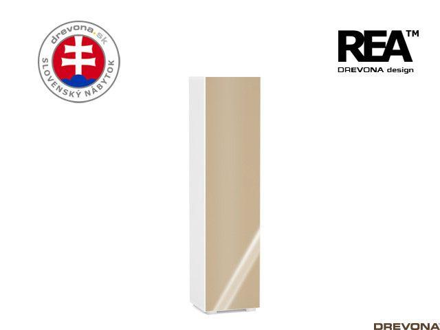 Skrinka biela/cap lacobel REBECCA 4