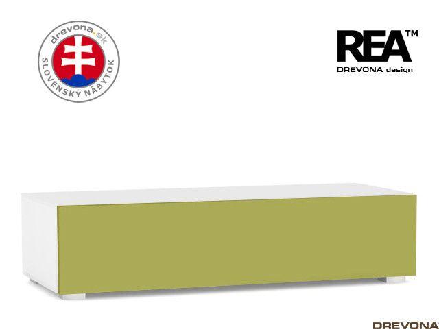 Skrinka biela/zelená REBECCA 2