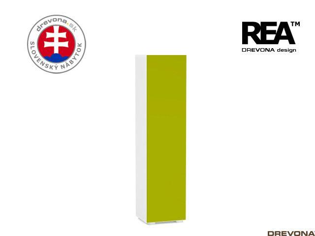 Skrinka biela/zelená REA REBECCA 4