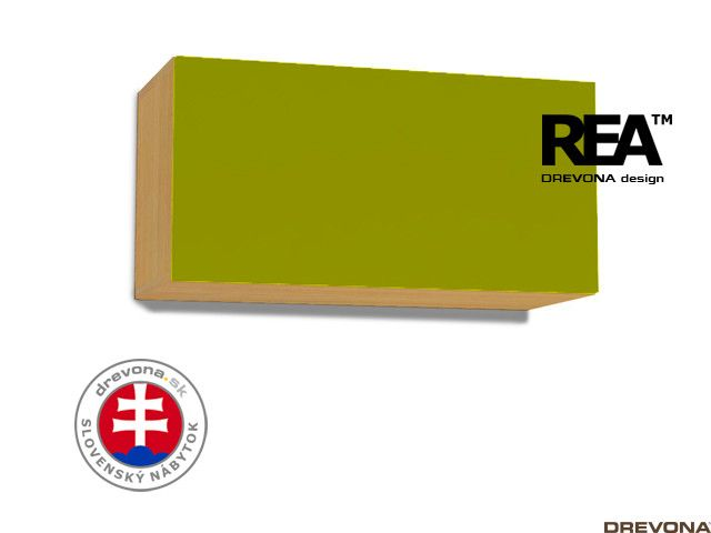 Skrinka buk/zelená REA REBECCA 7