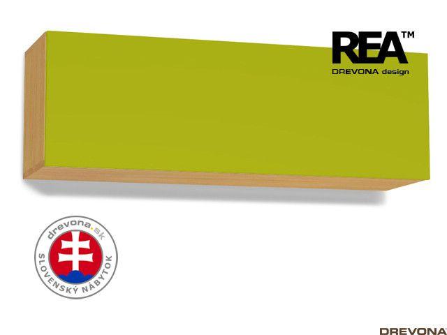 Skrinka buk/zelená REA REBECCA 8