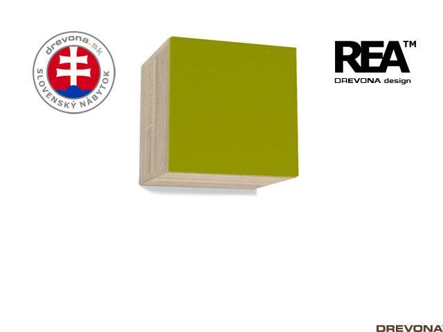 Skrinka dub bardolino/zelená REBECCA 6