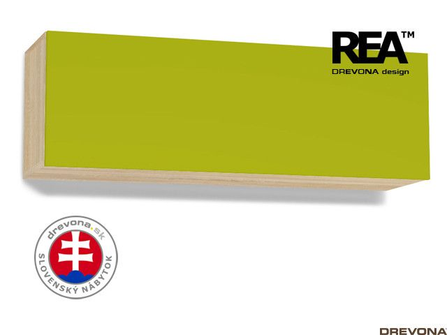 Skrinka dub bard/zelená REBECCA 8