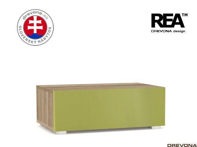 Skrinka dub c/zelená REA REBECCA 1