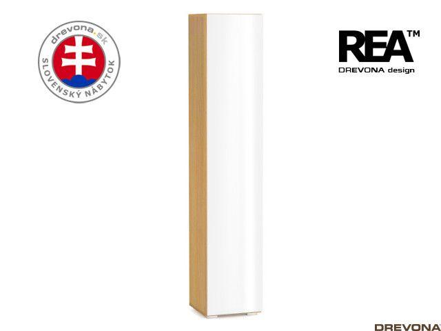 Skrinka buk/biely lacobel REBECCA 5