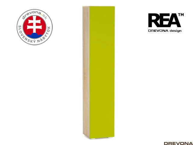 Skrinka dub bardolino/zelená REBECCA 5