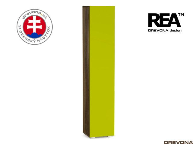 Skrinka wenge/zelená REA REBECCA 5