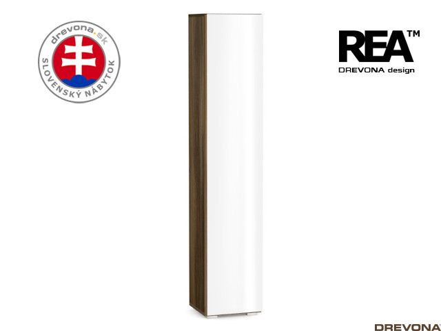 Skrinka orech rock/biely lacobel REBECCA 5